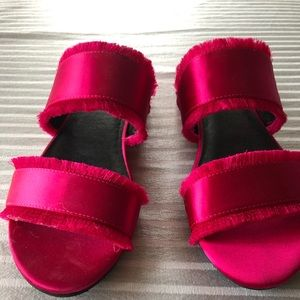Bright pink Kenneth Cole sandals